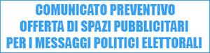 Avviso Pubblicità Elettorale Regione Calabria 2021